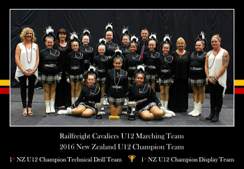 Smedley girls in New Zealand Champion Marching Team