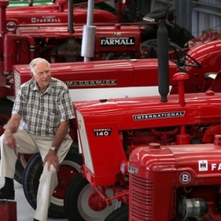 Tractor enthusiast fuels his passion for machines